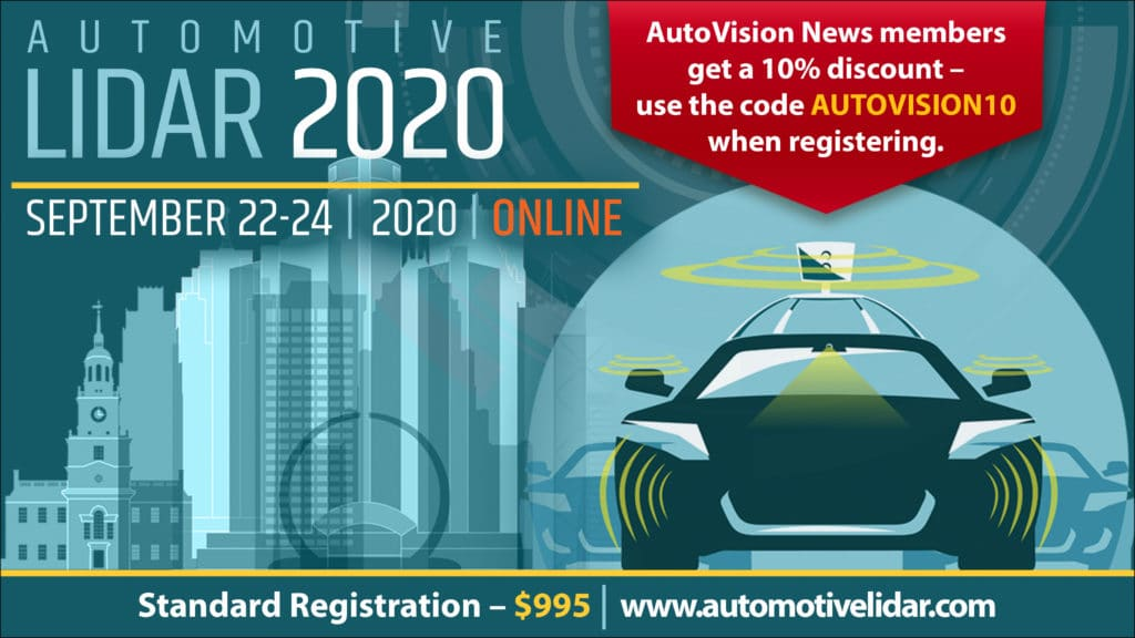 Automotive LIDAR 2020 banner