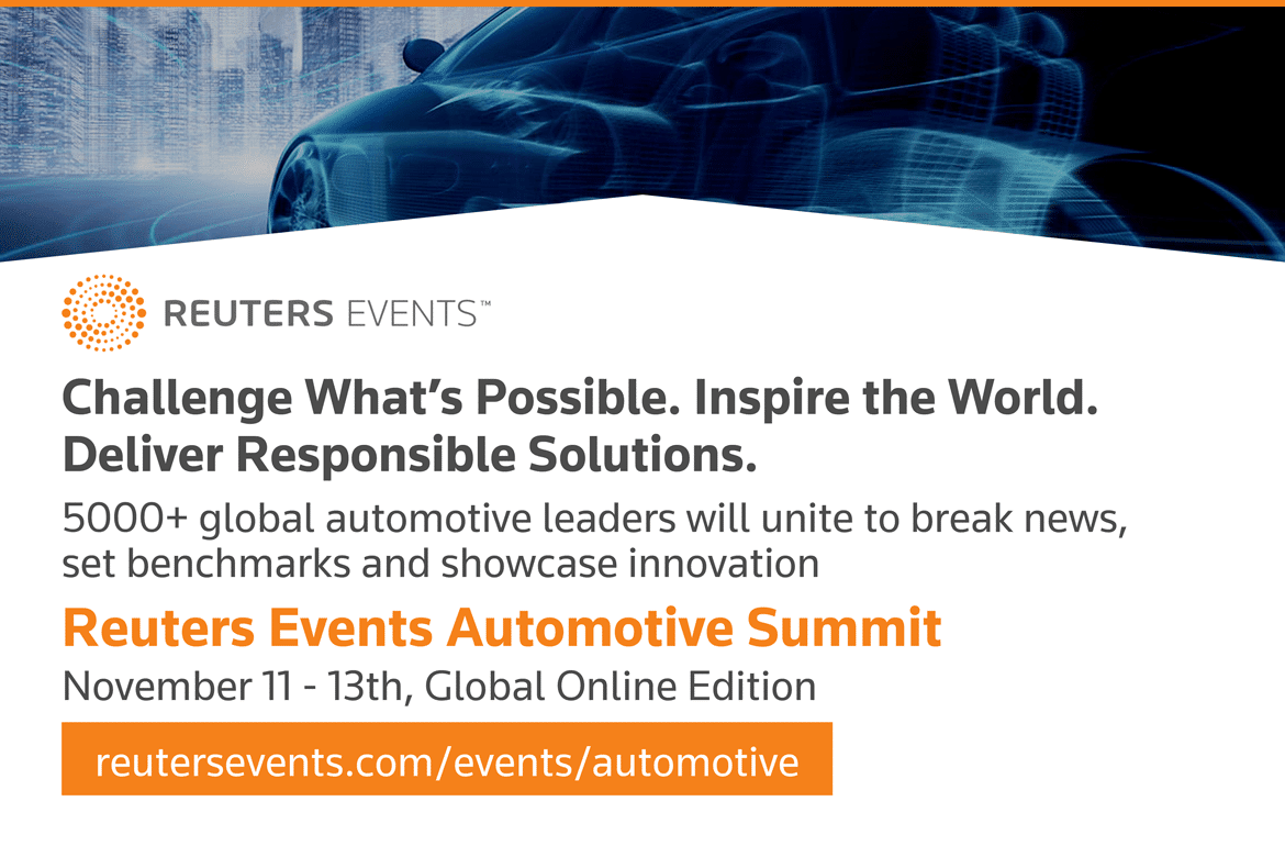 Reuters Auto Summit 2020 banner