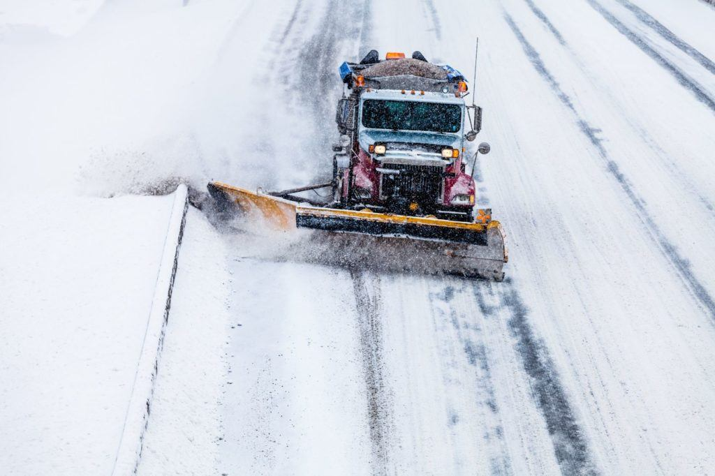 Snow plow tucks operating within a connected infrastructure may help them clear roadways more efficiently.