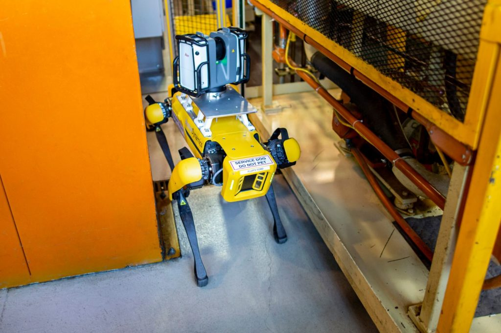 Meet Fluffy, Ford's New Robotic Pup That Scans Factories for Retooling 23