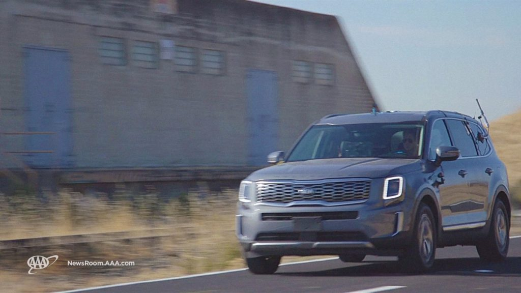 AAA testing the 2020 Kia Telluride with Highway Driving Assist.