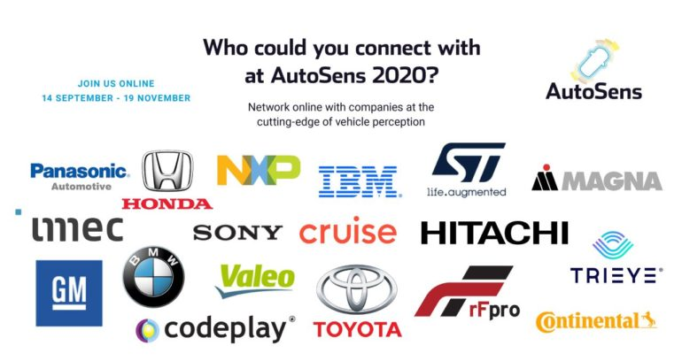Brussels Agenda for AutoSens 2020 to Feature 45 Technical Presentations & Unique Matchmaking Session 15