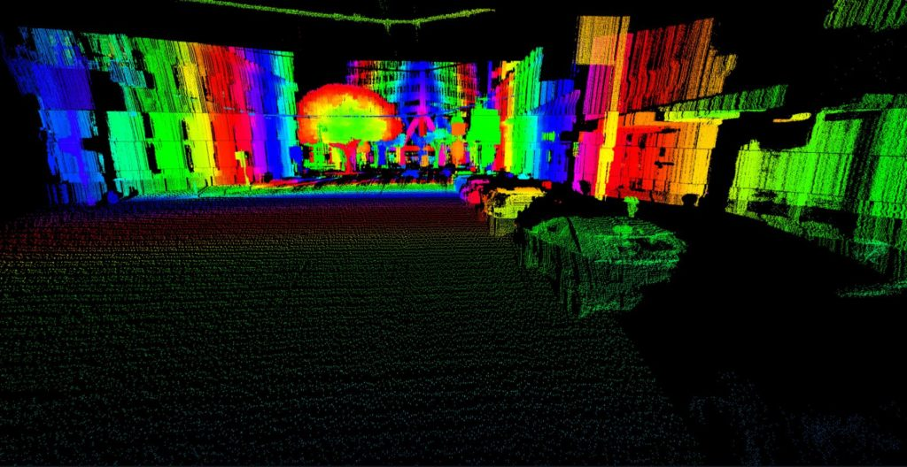 Point cloud image from AEye's long-range, software-definable LiDAR.