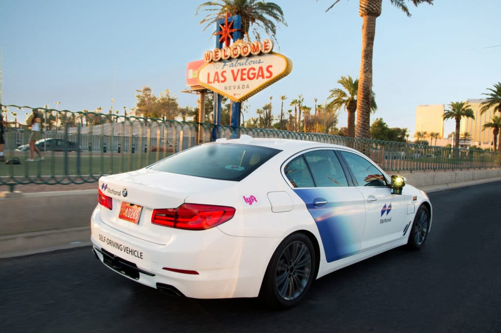 Motional and Lyft robotaxi in Las Vegas.