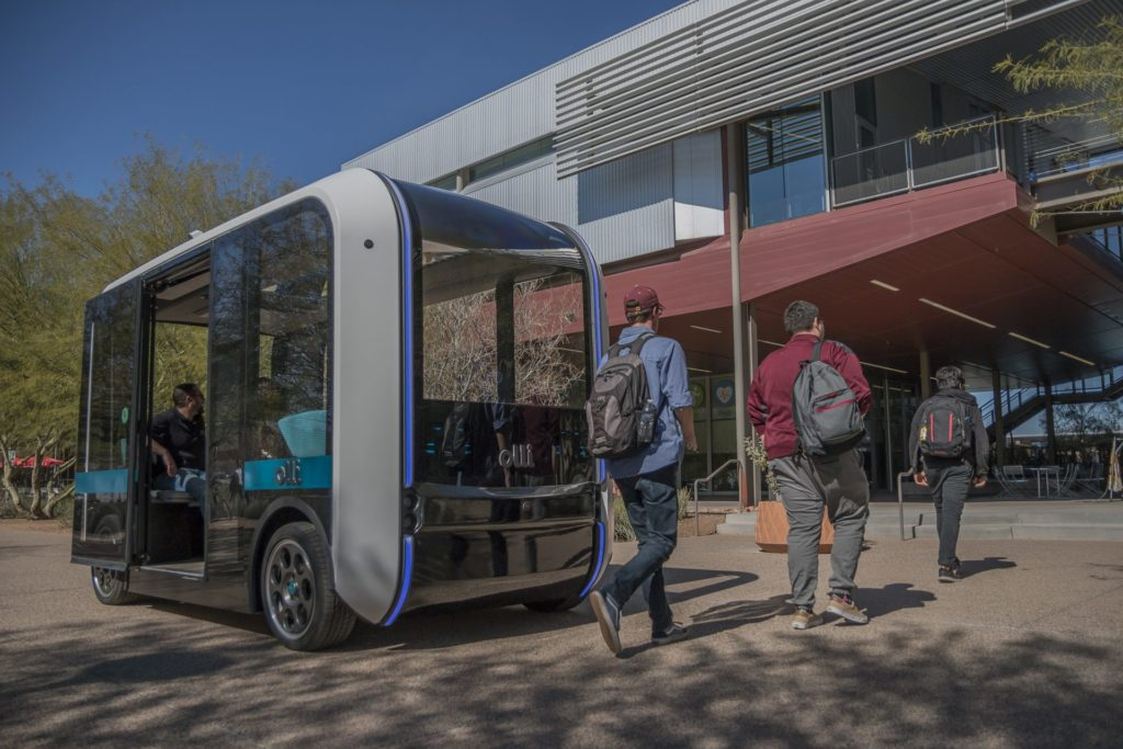 Olli helps students get to class on the campus of Arizona State University.