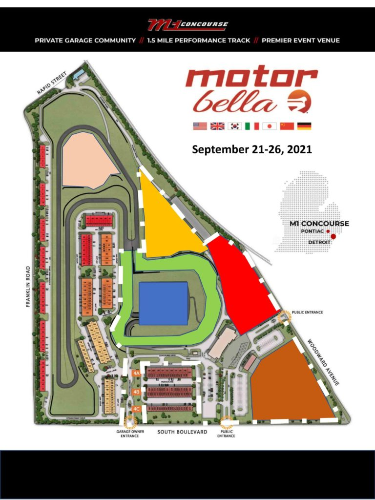 M1 Concourse map. Motor Bella is scheduled to take place at the M1 Concourse in September.