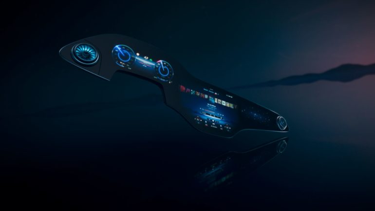Mercedes-Benz Debuts New MBUX Hyperscreen for All-Electric EQS 15