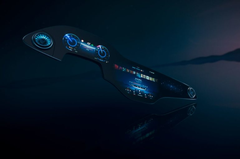 Mercedes-Benz Debuts New MBUX Hyperscreen for All-Electric EQS 21