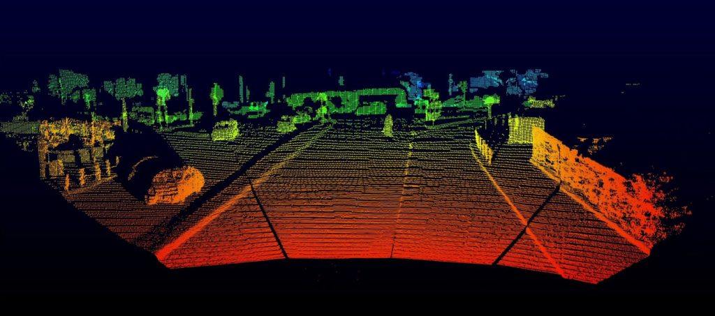 Opsys Tech SP2.5 Scanning Microflash LiDAR screenshot.