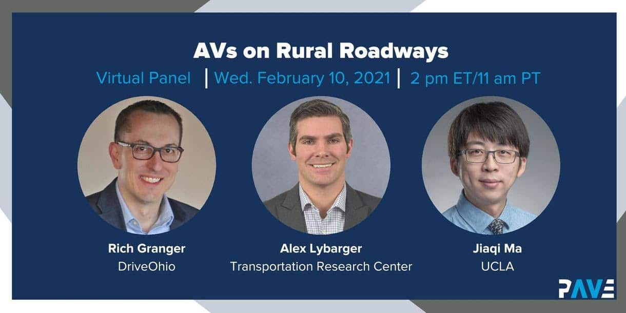 AVs on Rural Roadways
