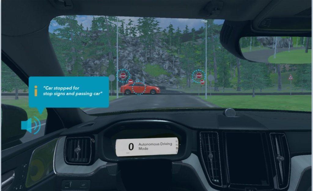 Volvo autonomous driving.