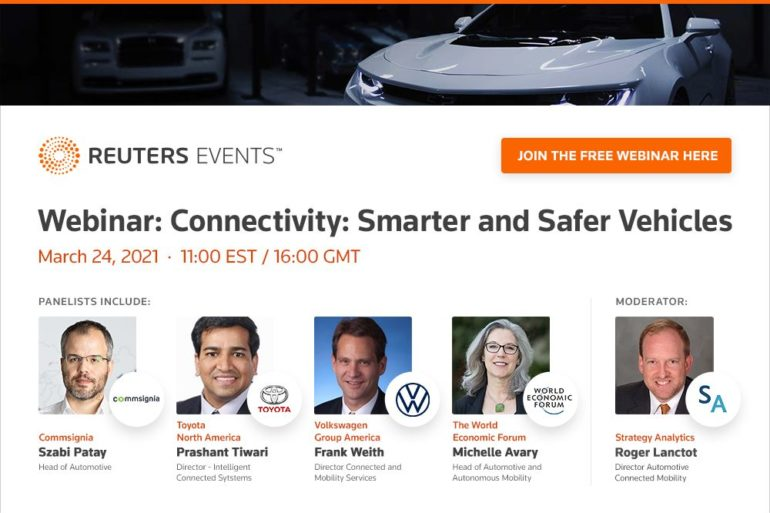 Reuters Events Webinar to Examine the Role of Connectivity in Designing Smarter & Safer Vehicles 20