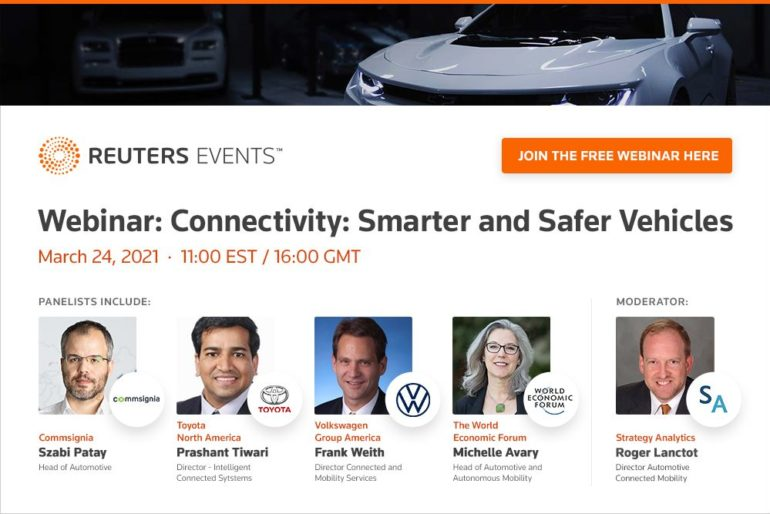 Reuters Events Webinar to Examine the Role of Connectivity in Designing Smarter & Safer Vehicles 16