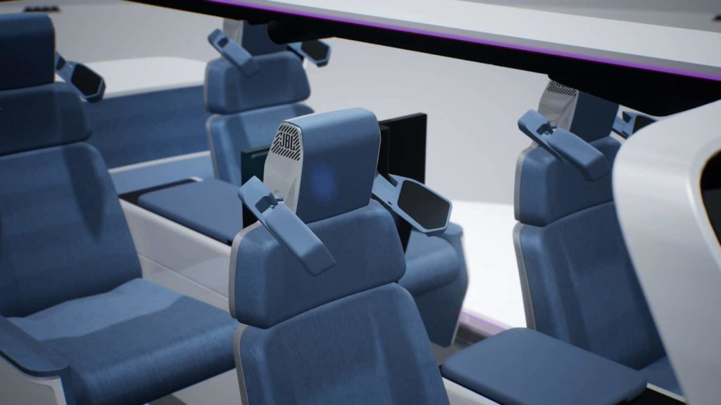 """During an event like a """"Drive-Live"""" Concert, the JBL headrest speakers can deploy to create a more immersive audio experience for the occupants."""