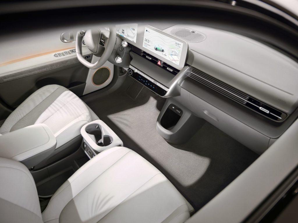 Hyundai IONIQ 5 interior layout.