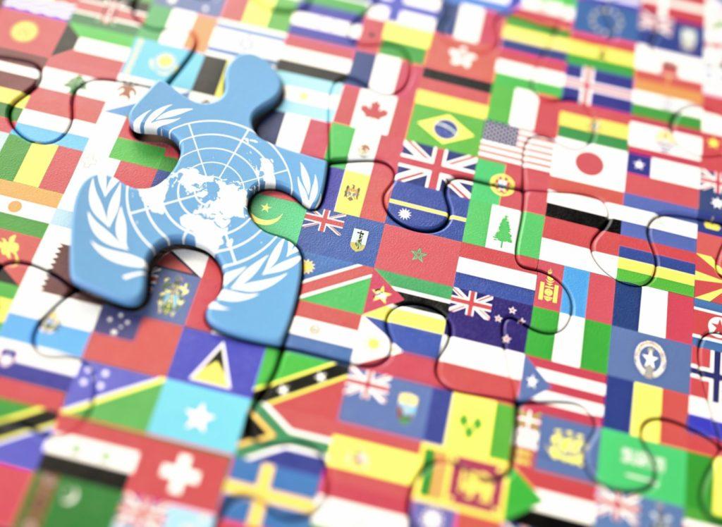 UN Flags.