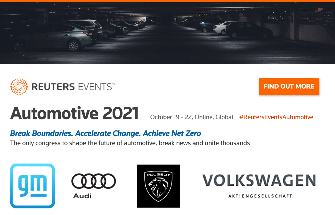 Reuters Events to Unite Industry Leaders During Automotive 2021 Congress in October 32