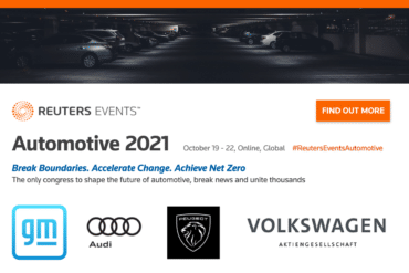 Reuters Events to Unite Industry Leaders During Automotive 2021 Congress in October 1