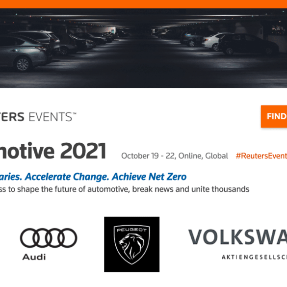 Reuters Events to Unite Industry Leaders During Automotive 2021 Congress in October 26