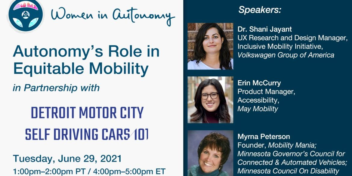 Women in Autonomy to Present Virtual Panel on Equitable Transportation & Mobility 17