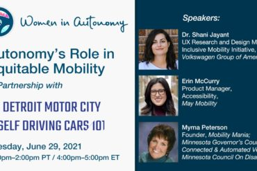 Women in Autonomy to Present Virtual Panel on Equitable Transportation & Mobility 2