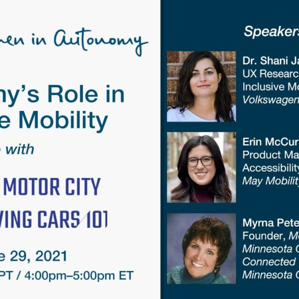 Women in Autonomy to Present Virtual Panel on Equitable Transportation & Mobility 27