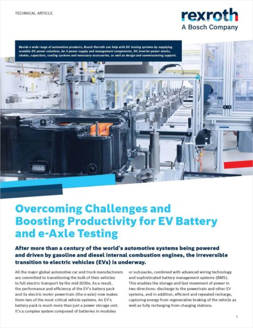 Technical Article: Electric Drive Technology: Boost Productivity for EV Battery & e-Axle Testing 17